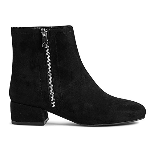 Talla Color 5 Outlet The Botas 35 Motero Estilo Mujer London Negro 4Fq1w8qB