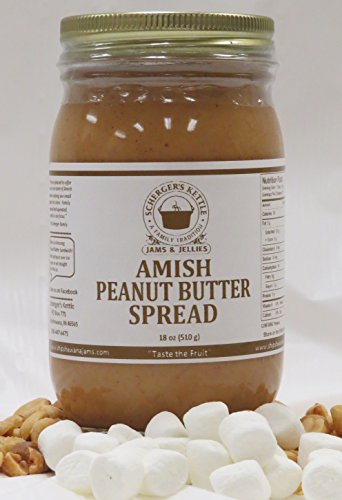 Peanut Butter Marshmallow Bars - Amish Peanut Butter Spread, 18 oz