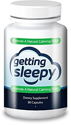 Getting Sleepy - All Natural Sleep Aid - Fast Acting - Chewable - 8 Natural Active Ingredients - Melatonin - Valerian - L-tryptophan