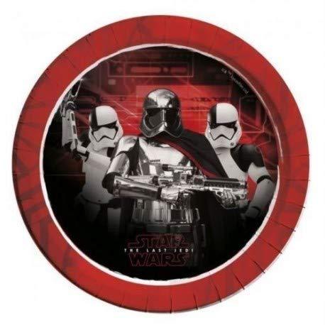 ALMACENESADAN 2546; Pack 16 Platos Disney Star Wars, Rojo ...