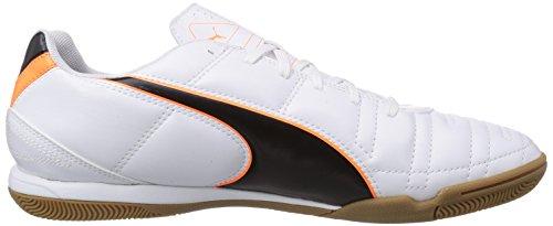 Puma Universal II IT - Zapatillas deportivas para interior de material sintético hombre blanco - Weiß (white-black-fluo flash orange 02)