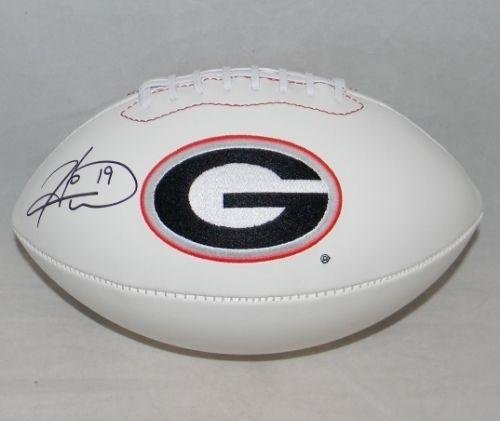 Hines Ward Signed Autographed Georgia Bulldogs White Logo Football - JSA Certified - Autographed College Footballs