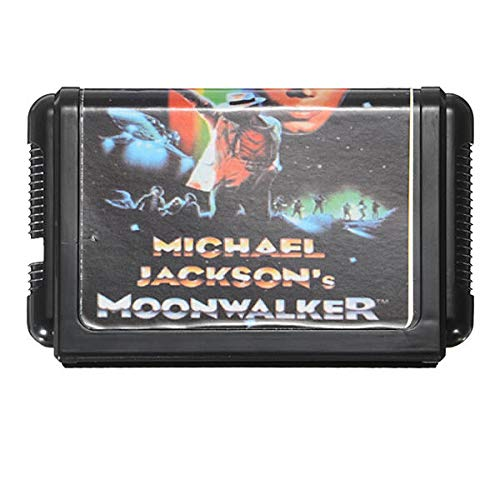 Michael Jackson's Moonwalker 16 bit Game Cartridge Game Card for Sega MegaDrive PAL NTSC - Retro Games Accessories Cartridge For Sega - 1 x Michael Jackson's Moonwalker Game Card]()