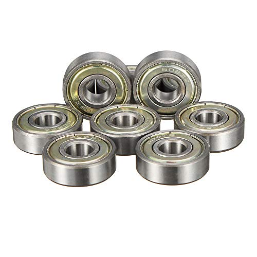 Yingte 8pcs ABEC-11 608ZB Stamping Bearings Skateboard Longboard Road Skating Ball Bearing