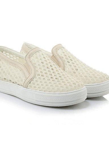 Redonda Mocasines Negro Blanco Plataforma Zapatos white ZQ uk1 beige Vestido Casual mujer Comfort Punta uk1 eu32 gyht us2 us2 white 5 Semicuero us2 5 eu32 Beige Exterior cn31 5 eu32 cn31 de xwwW6O8