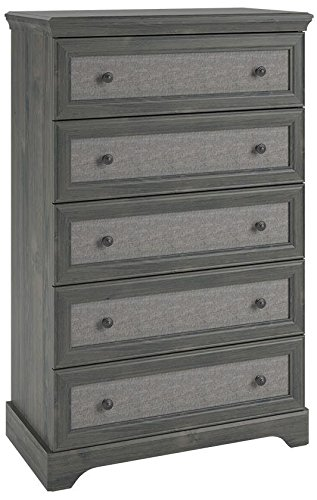 Ameriwood Home Stone River 5 Drawer Dresser with Fabric Inserts, Weathered Oak