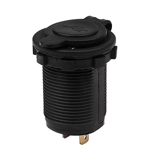 TiooDre Moto Dual USB Charger Power Adapter Socket Presa di corrente 12-24V caricatore del telefono mobile 1A//2.1A con LED per dellautomobile del camion ATV barca