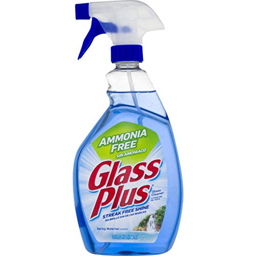 Glass Plus Glass Cleaner, 32 fl oz Bottle, Multi-Surface Glass Cleaner (Pack of 4) - Ammonia Free Cleaner Glass