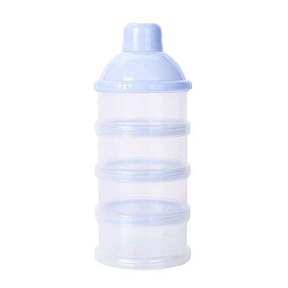 Newin Star Bebé de leche en polvo dispensador de alimentación del bebé del recorrido del almacenaje del envase 4 capas anti-derrame apilable ...