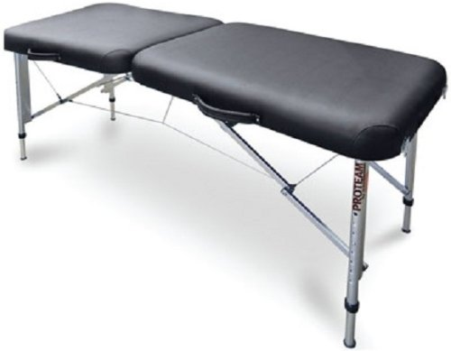 Hausmann 7650-751 Black Adjustable Porable Exam Treatment Table w/ Carrying Bag
