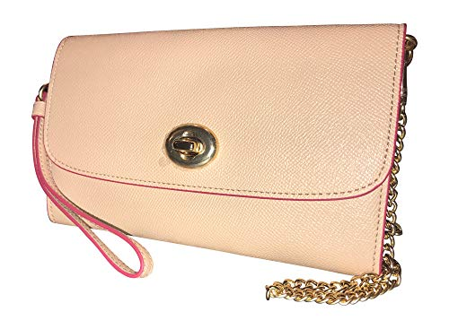 Leather Chain Charm Coach Pink Nude Crossbody Crossgrain Bag 47TwxHv