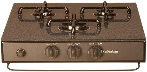 Suburban 3 Burner - Suburban 2948ABK 3-Burner Black Cooktop Cover