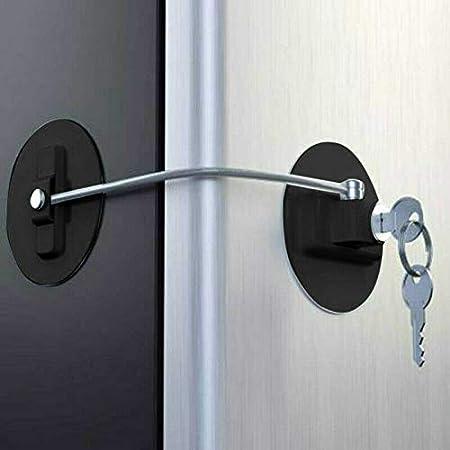 Genleas - Cerradura para frigorífico con 4 llaves, cerradura para ...