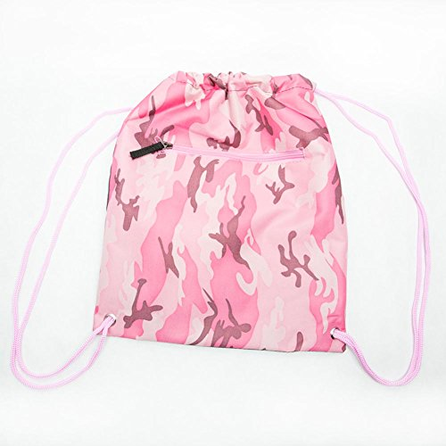 Pink-Camouflage-Drawstring-Backpack