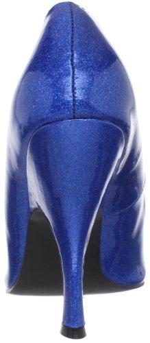 Pleaser Women's Bombshell-01G Pump Blue Glitter Patent y55elTnL0Z