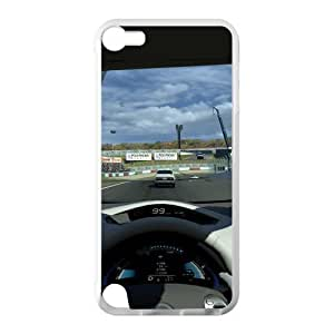 Racing Racer Final Sprint Win Ipod Touch 5 Case Shell Cover (Laser Technology)