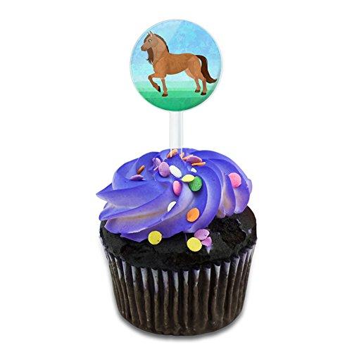 Horse Cake Cupcake Toppers Picks Set