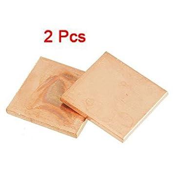 SODIAL(R) 2 x Disipador Almohadilla de Termico Cobre 15mm x 15mm x 1.5mm para Computadora Portatil GPU: Amazon.es: Electrónica