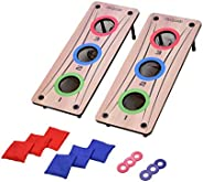 GoSports 2-in-1 Bean Bag Toss and Washer Toss Combo Outdoor Game - Fun for Kids and Adults - Includes 2 Double
