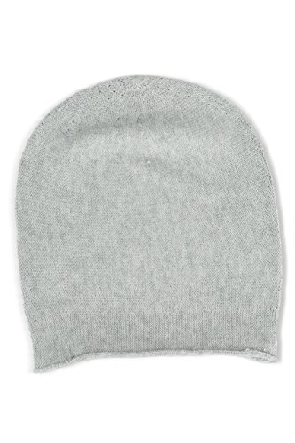 Fishers Finery 100% Cashmere Beanie - Pebble (Cashmere Hat)
