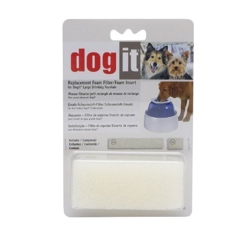 Clear Replacement Foam - Dogit Replacement Foam Insert for Fresh & Clear Large Dog Fountain - 2-Pack by Dogit