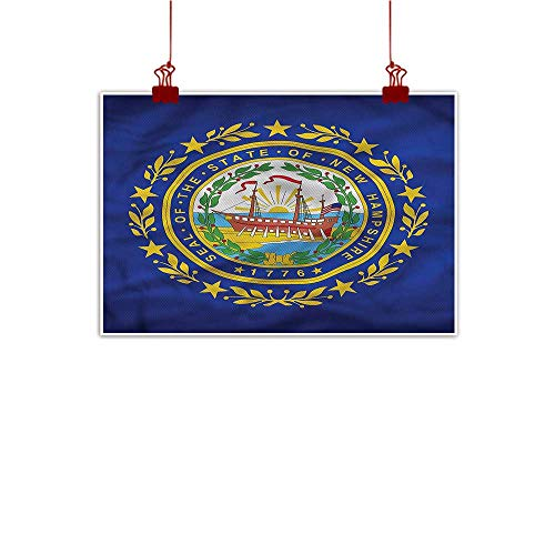 Mangooly Art Poster Print American,State of New Hampshire 32