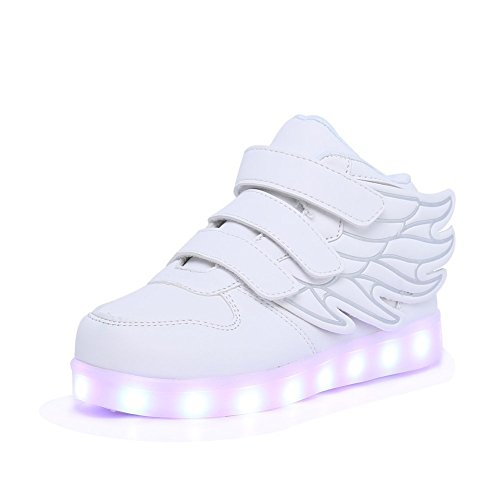 Women 's lightweight running shoes wear sports shoes casual ultra - light with(White) - 9