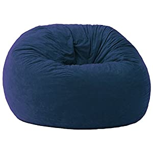 Big Joe Large Fuf Foam Filled Bean Bag Chair, Comfort Suede, Blue Sky