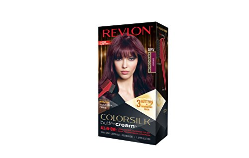 Revlon Colorsilk Buttercream Hair Dye, Vivid Burgundy, 1 Count