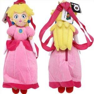 Accessory Innovations Super Mario Princess Peach Plush Backpack Bag ()