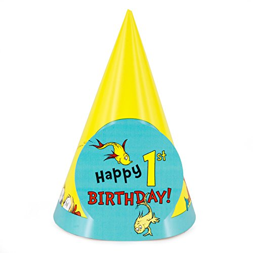 Dr. Seuss 1st Birthday Cone Hats