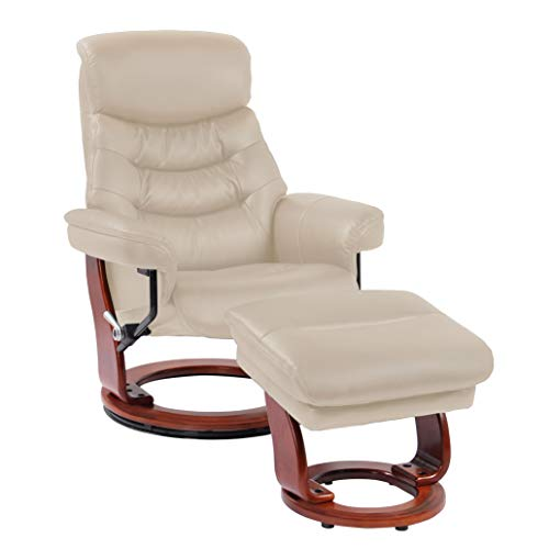 Coja by Sofa4life C-Tau Charles Leather Recliner and Ottoman ()