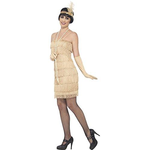 Amakando Disfraz Mujer Años 23 - S (ES 36/38) | Vestido Dorado ...