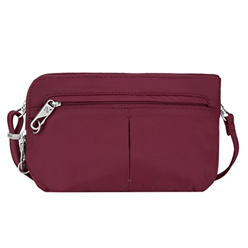 Travelon Anti-Theft Classic Light Convertible Crossbody and Waistpack, Berry, One Size