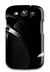 Durable Music Headphones Back Case/cover For Galaxy S3