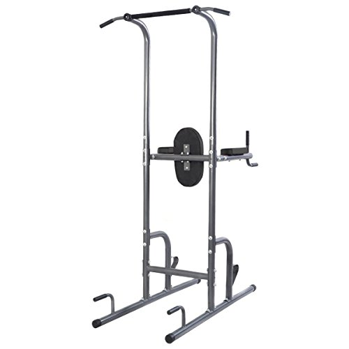 Goplus Chin Up Tower Rack Pull Up Weight Stand Bar Leg Raise Workout Resistant Home Gym by Goplus