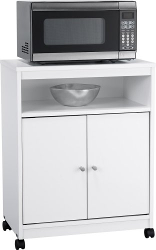 Ameriwood Landry Kitchen Microwave Cart, White Explained