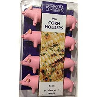 Charcoal Companion Corn Holders - Pig (Set of 4)