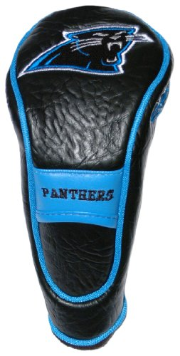 Team Golf NFL Carolina Panthers Hybrid Golf Club Headcover, Hook-and-Loop Closure, Velour lined for Extra Club Protection