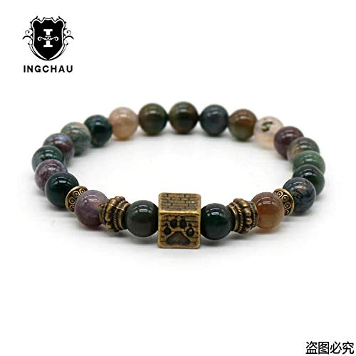 Newst 7 Chakra Bracelet Men Black Lava Healing Balance Beads Reiki Buddha Prayer Natural Stone Yoga Bracelet for Women (Buddha and (Jasper Ruby Bracelet)