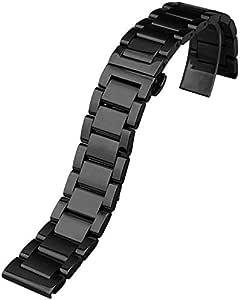 ساعة ذكية بديلة من الستانلس ستيل موديل SM-R732 - ساعة ذكية قابلة للتبديل - اسود
