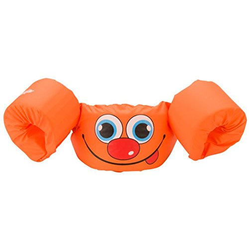 Stearns Puddle Jumper Basic Life Jacket, Orange Smile, 30-50 (Life Vest Pool)