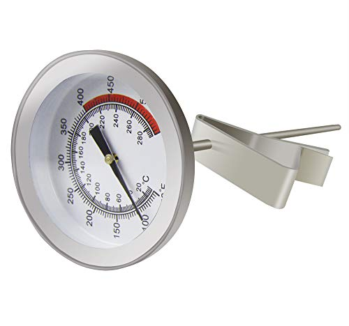 Meat Roasting Thermometer - Aveloki Roasting Meat Thermometer,Stainless Steel Classic Fry Meat Thermometer,Silver Easy-Read Face For BBQ Household with Metal Clip