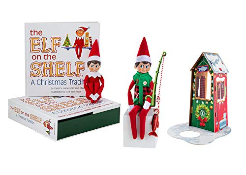 The Elf on the Shelf: A Christmas Tradition - Boy Light with Claus Couture Frosted Fishing Hut (Baby Elf On The Shelf For Sale)