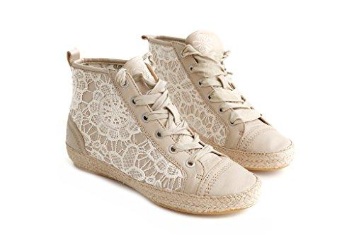 Femme Baskets Pretty Nana Beige Pour Bn17wp7q