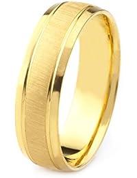 59e38014b62 10k Gold Men s Comfort-Fit Wedding Band with Satin Finish Center Polished  Beveled Edges