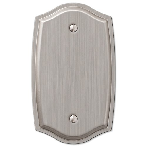 (1 Blank Solid Wall Plate Cover - Brushed Nickel)