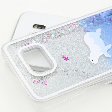Casos hermosos, cubiertas, Pintado caja del teléfono pc arena de plata para la galaxia s6 / s5 / s4 ( Modelos Compatibles : Galaxy S6 ) Galaxy S4