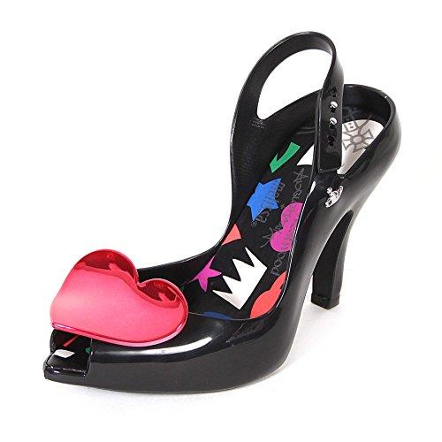 1e47d0eba88 Melissa x Vivienne Westwood Women's Lady Dragon 19 Heart Heel Black  Pink-Black-4 Size 4