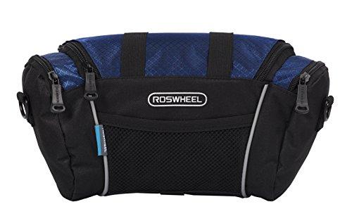 Roswheel 11494 5L Capacity Bike Front Handlebar Bag Bicycle Basket Cycling Accessories Pack, Blue ()